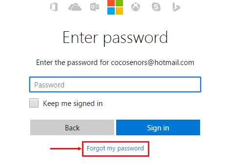 forgot my password