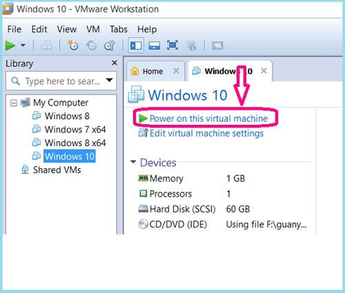 how to install machine on windows 10