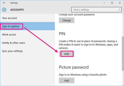 Tips to Add/Change/Remove PIN Code on Windows 10