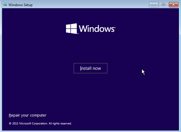windows installation