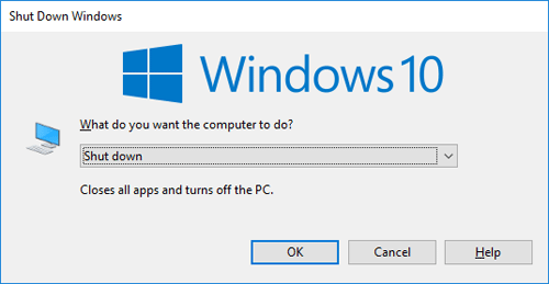 press enter to turn off pc