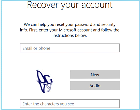 enter your microsoft account