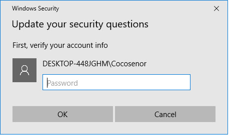 how to change your security questions