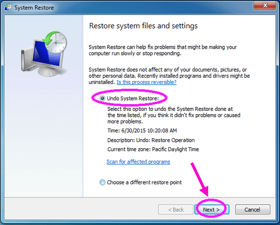 how to restore windows 7 from windows 10