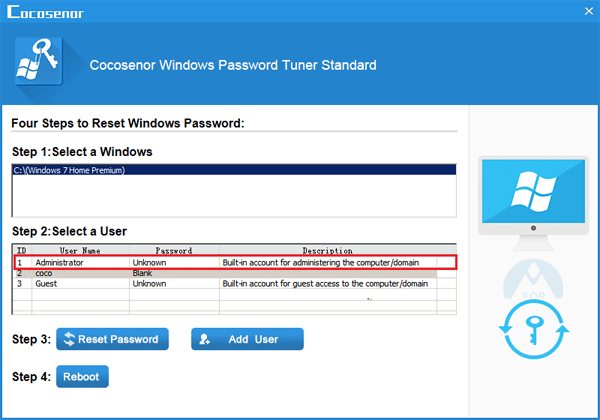 forgot user password windows 7 home premium