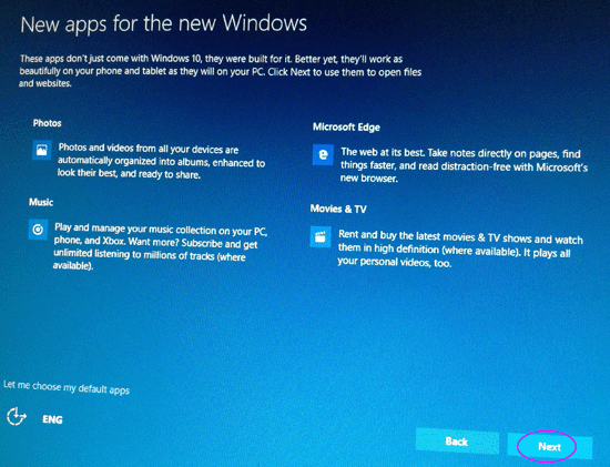 new apps for new windows