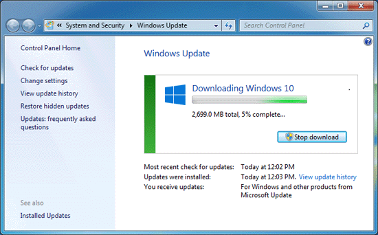windows 10 download is slowly