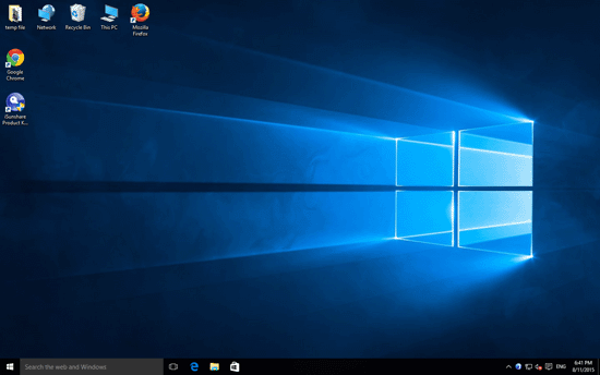 get into windows 10 screen