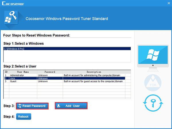 admin password remover windows 8