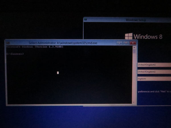 command prompt to change password