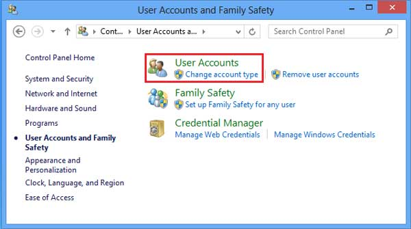 How to delete Microsoft account or Local account from