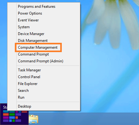 select computer management