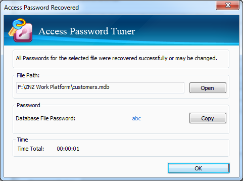 Cocosenor Access Password Tuner – MS Access Database Password