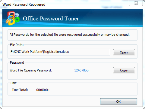excel password tuner