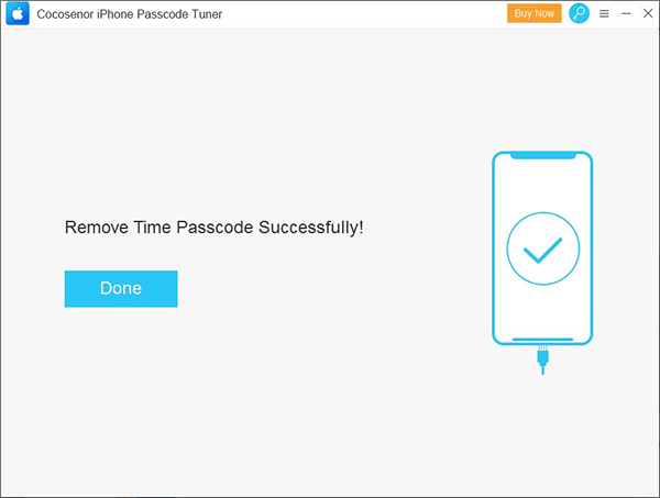 remove time passcode successfully