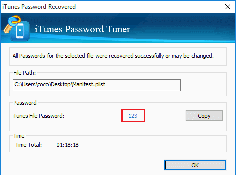 password is recovered