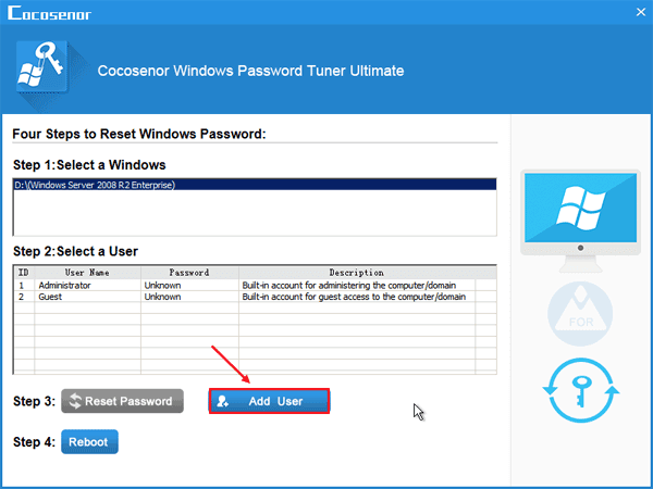 Reset Windows Server (2012/2008/2003) Password with Windows
